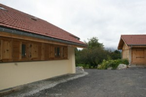 Chalet Cassiopée, façade est, SARL Marchand-Arvier
