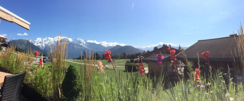 Panorama sur le massif du Mont Blanc depuis Passy Plaine Joux